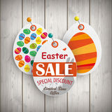 Easter Eggs Price Stickers Pins Stock Images