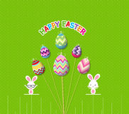 Easter eggs props card Stock Photos