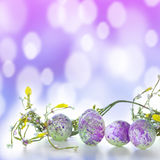 Easter eggs in purple Royalty Free Stock Photography