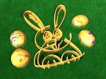 Easter Eggs - Rabbit - 3D Royalty Free Stock Photo
