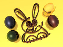 Easter Eggs - Rabbit - 3D Stock Photography