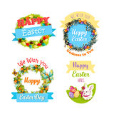 Easter eggs and rabbit cartoon symbol set design Royalty Free Stock Images