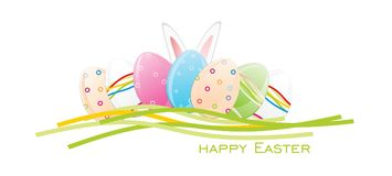 Easter Eggs, Rabbit Ears Vector illustration. Easter Eggs, Rabbit Ears Vector Royalty Free Stock Images