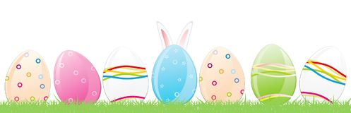 Easter Eggs, Rabbit Ears Vector illustration. Easter Eggs, Rabbit Ears Vector Royalty Free Stock Photography