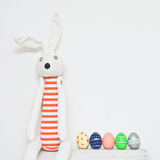 Easter eggs and rabbit Stock Photo