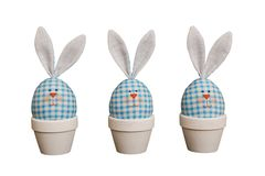 Easter eggs - rabbits Stock Photo