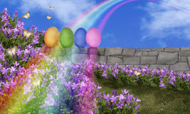 Easter Eggs Rainbow Royalty Free Stock Photo