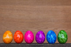 Easter Eggs rainbow colors copyspace Royalty Free Stock Image
