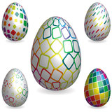 Abstract 3D Easter Eggs With Decorative Texture Royalty Free Stock Photos