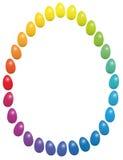 Easter Eggs Rainbow Frame Stock Images
