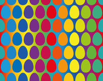 Easter Eggs Rainbow Gradient Seamless Pattern Royalty Free Stock Image