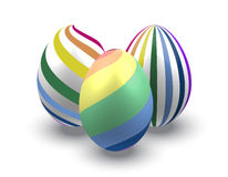 Easter eggs rainbow Royalty Free Stock Images