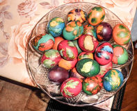 Easter eggs ready for battle Royalty Free Stock Images