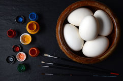 Easter Eggs Ready For Painting Stock Images
