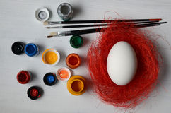Free Easter Eggs Ready For Painting Stock Images - 50718264