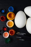 Easter eggs ready for painting Royalty Free Stock Images
