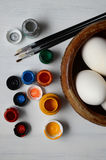 Easter eggs ready for painting Royalty Free Stock Photography