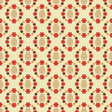 Easter eggs in red blossom circles pattern  Stock Images