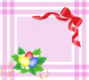 Easter eggs with red bow Stock Images