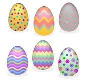 6 Easter eggs. Rendered 3D vector illustration