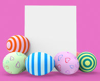 Easter Eggs Represents Blank Space And Copy-Space Stock Images