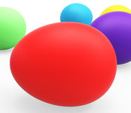 Easter Eggs Represents Empty Space And Colorful Royalty Free Stock Photo