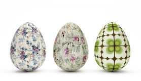 Easter Eggs - Retro Look. Special Easter Eggs with floral retro look royalty free illustration