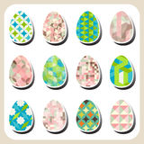 Easter eggs retro pattern set Royalty Free Stock Images