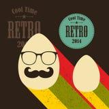 Easter eggs in retro style. Stock Photos