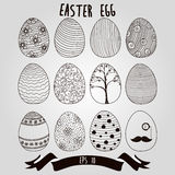 Easter eggs with ribbon background the pattern for coloring book Stock Images