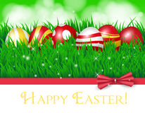 Easter eggs and ribbon Stock Image
