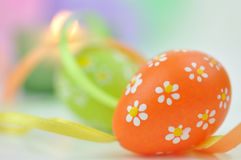 Easter Eggs and Ribbons Stock Image