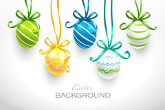 Easter eggs. With ribbons. Vector