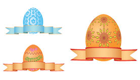 Easter eggs with ribbons - vector Stock Photography