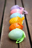 Easter Eggs In A Row. Stock Images