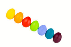 Easter eggs row Royalty Free Stock Images