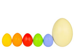 Easter eggs row 2 Royalty Free Stock Photos
