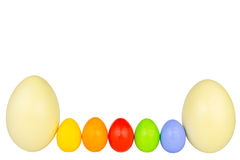Easter eggs row 3 Stock Photo