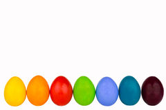 Easter eggs row 4 Royalty Free Stock Photos