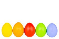 Easter eggs row 5 Royalty Free Stock Photography