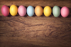 Easter eggs in a row Royalty Free Stock Photo