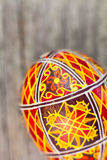 Easter eggs on the rusted board. Still life close up Royalty Free Stock Image