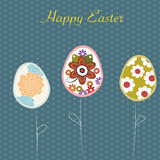 Easter eggs sale background Royalty Free Stock Photo