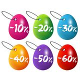 Easter eggs sale labels. Eps10 Vector. Easter eggs sale labels. Eps10 Vector illustration for commercial sale Royalty Free Stock Images