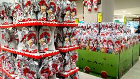 Easter eggs for sale. Portugal,  Algarve. Circa March 2018. Kinder Easter eggs for sale in a supermarket Royalty Free Stock Photos