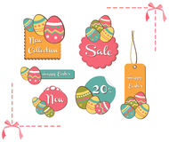 Easter eggs sales set background Stock Photography