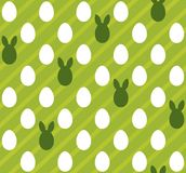 Easter eggs seamless green texture (rabbit, hare). Easter eggs seamless green texture (rabbit, hare, ears). Vector seamless pattern Vector Illustration
