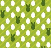 Easter eggs seamless green texture (rabbit, hare). Stock Photo