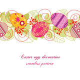 Easter eggs seamless pattern Royalty Free Stock Photo