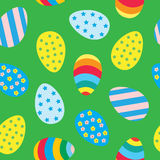 Easter eggs seamless pattern. Easter seamless pattern with colorful Easter eggs Stock Images